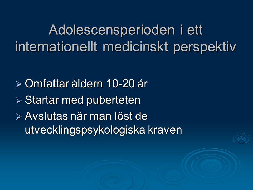 Adolescensperioden i ett internationellt medicinskt perspektiv