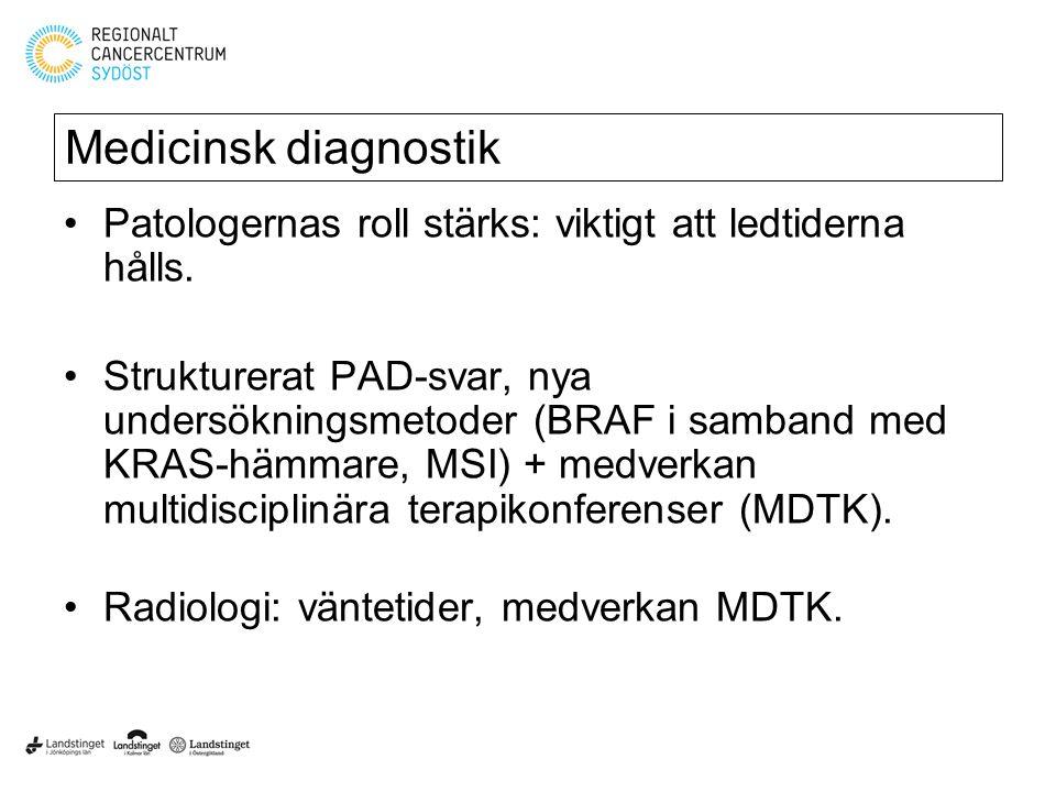 Medicinsk diagnostik Patologernas roll stärks: viktigt att ledtiderna hålls.