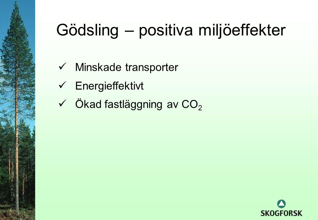 Gödsling – positiva miljöeffekter