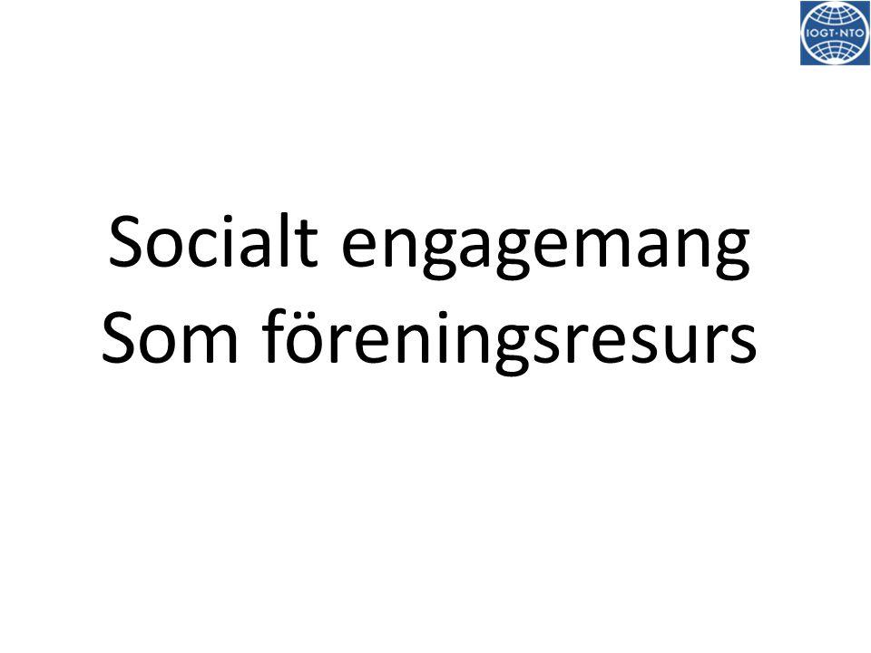 Socialt engagemang Som föreningsresurs
