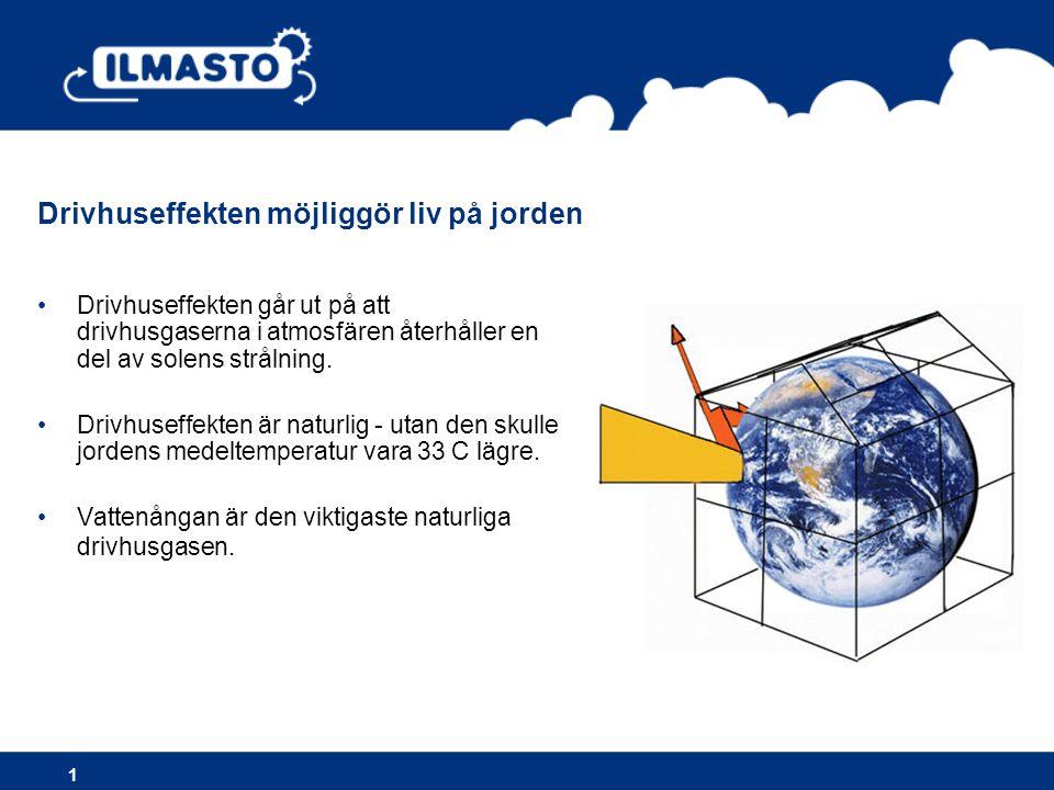 Drivhuseffekten möjliggör liv på jorden
