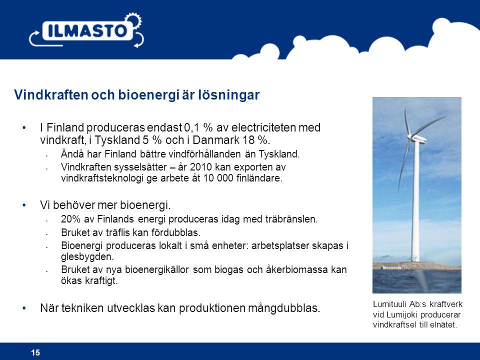 Vindkraften och bioenergi är lösningar