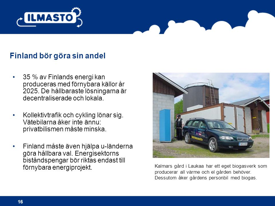 Finland bör göra sin andel