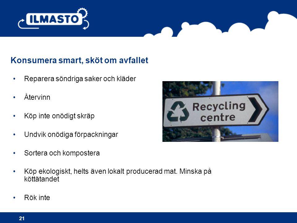 Konsumera smart, sköt om avfallet