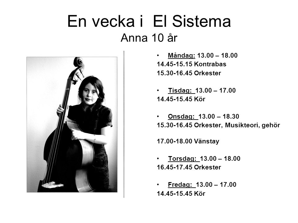 En vecka i El Sistema Anna 10 år