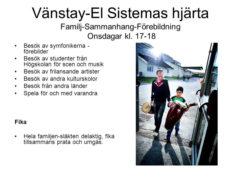 Vänstay-El Sistemas hjärta Familj-Sammanhang-Förebildning Onsdagar kl