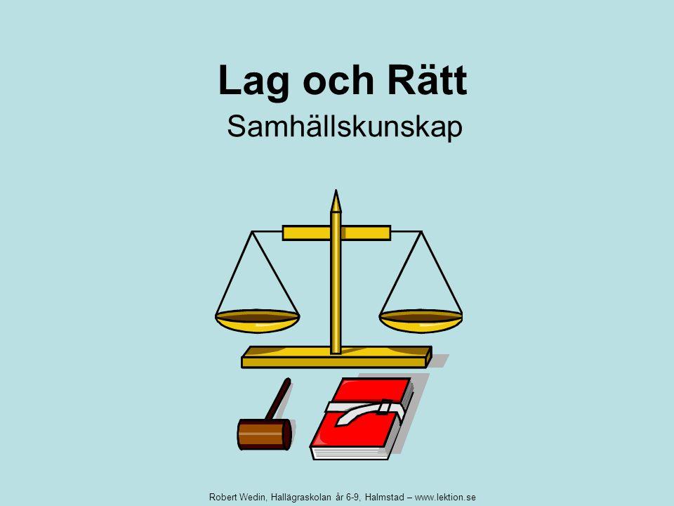 Lag och Rätt Samhällskunskap