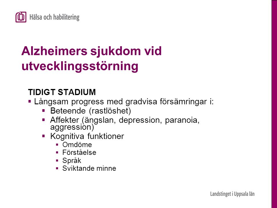 Alzheimers sjukdom vid utvecklingsstörning