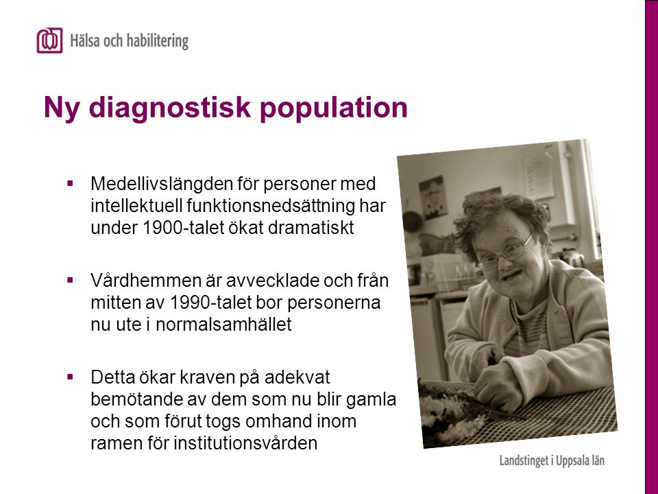 Ny diagnostisk population