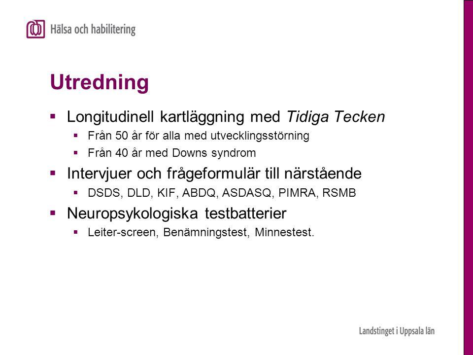 Utredning Longitudinell kartläggning med Tidiga Tecken