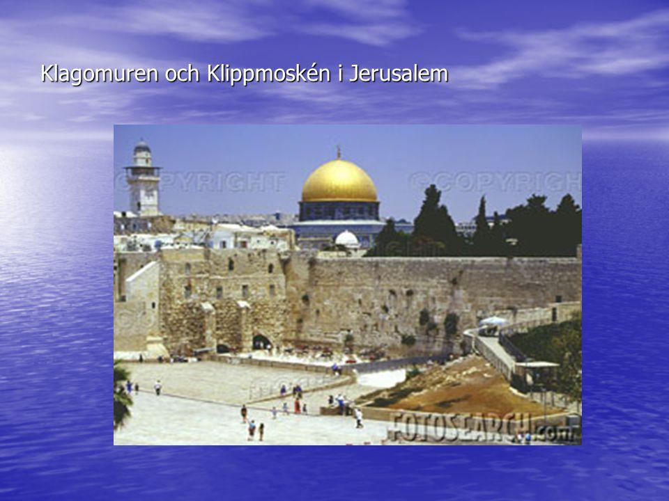 Klagomuren och Klippmoskén i Jerusalem