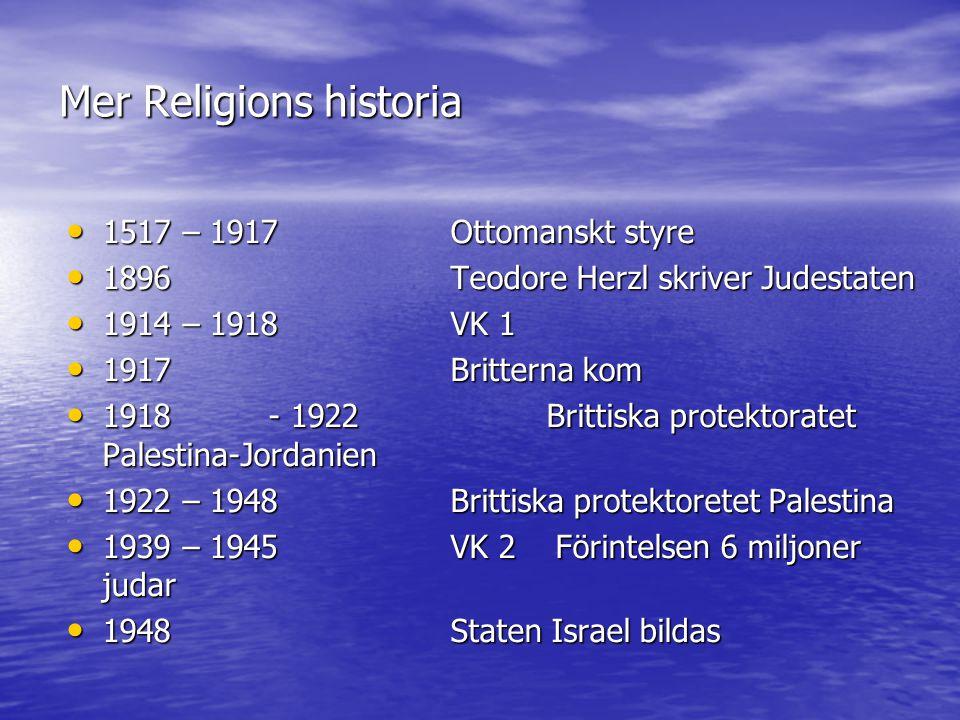 Mer Religions historia