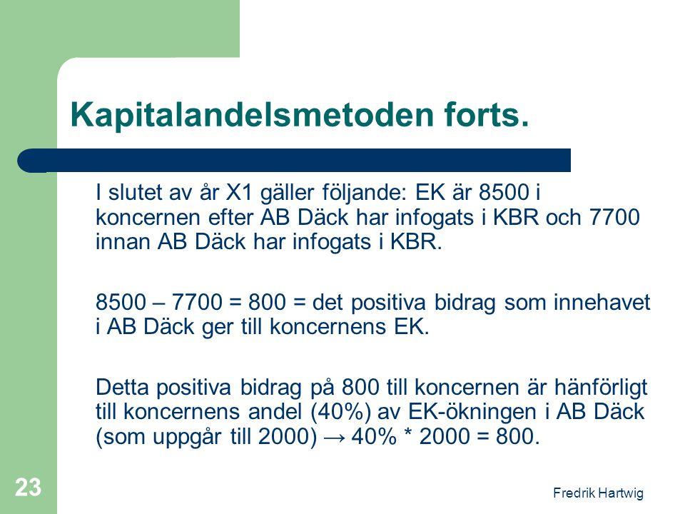 Kapitalandelsmetoden forts.