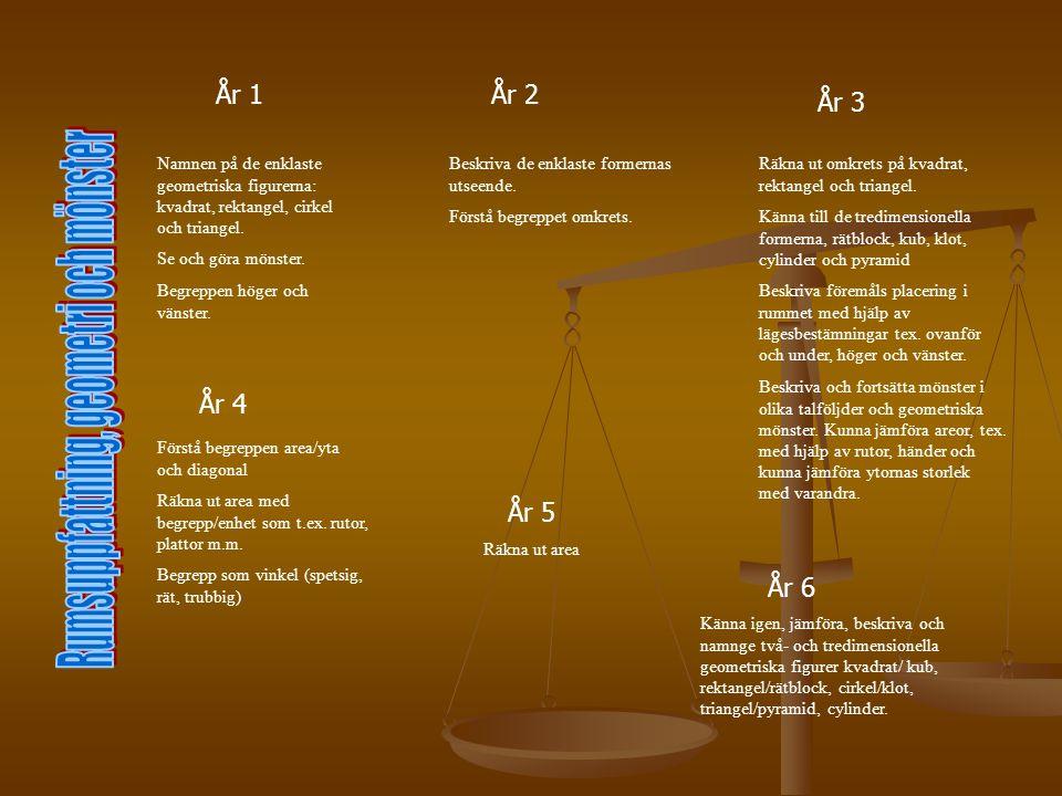 Rumsuppfattning, geometri och mönster