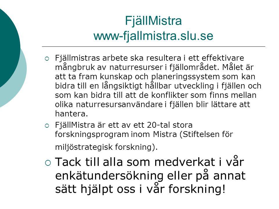 FjällMistra www-fjallmistra.slu.se