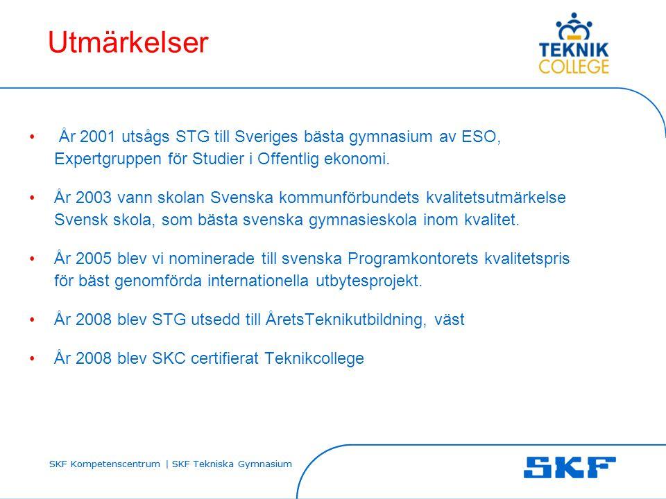 Utmärkelser År 2001 utsågs STG till Sveriges bästa gymnasium av ESO, Expertgruppen för Studier i Offentlig ekonomi.