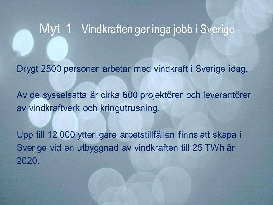 Myt 1 Vindkraften ger inga jobb i Sverige