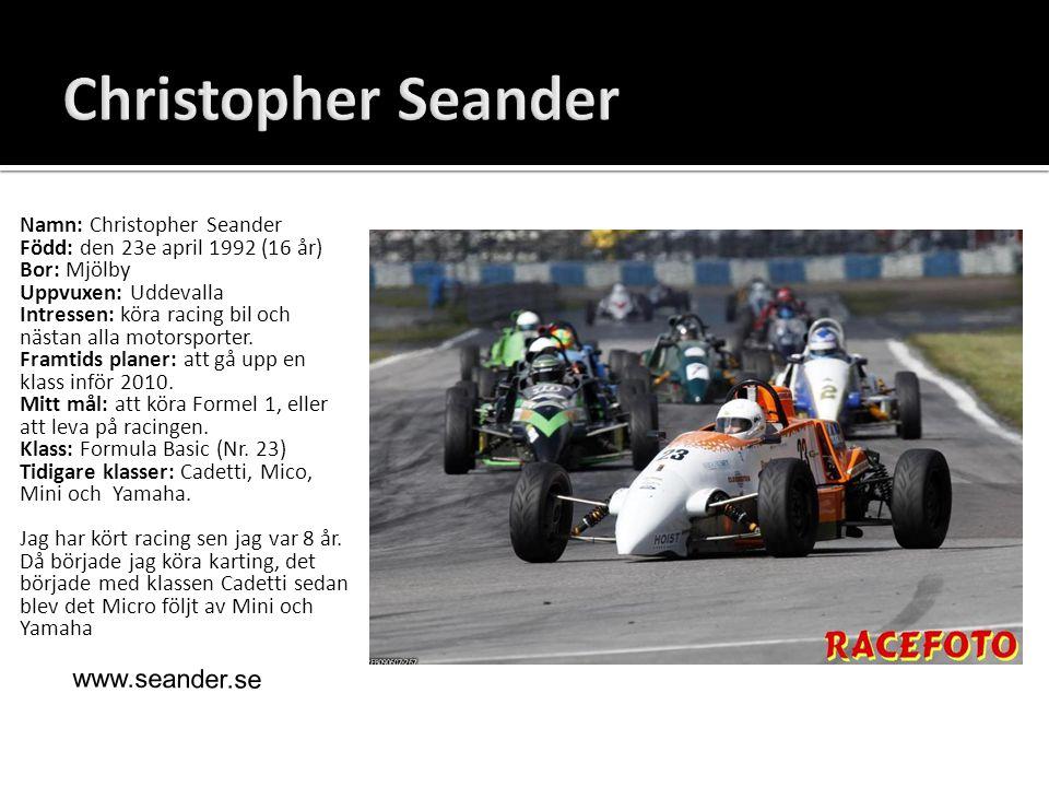 Christopher Seander www.seander.se Namn: Christopher Seander