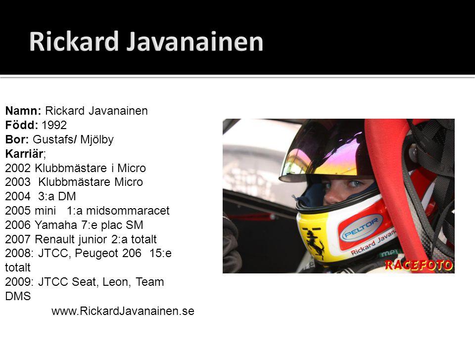 Rickard Javanainen Namn: Rickard Javanainen Född: 1992