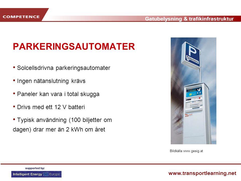 PARKERINGSAUTOMATER Solcellsdrivna parkeringsautomater