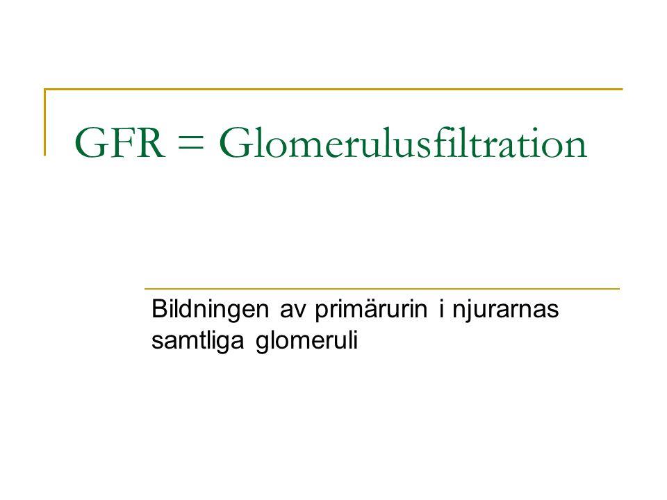 GFR = Glomerulusfiltration