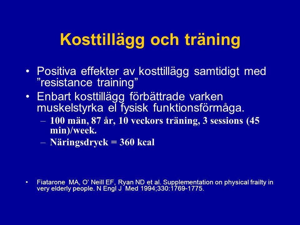 Kosttillägg och träning