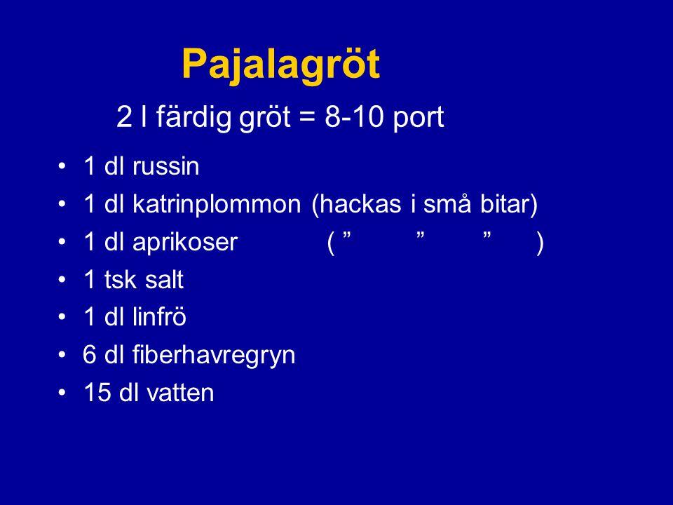 Pajalagröt 2 l färdig gröt = 8-10 port