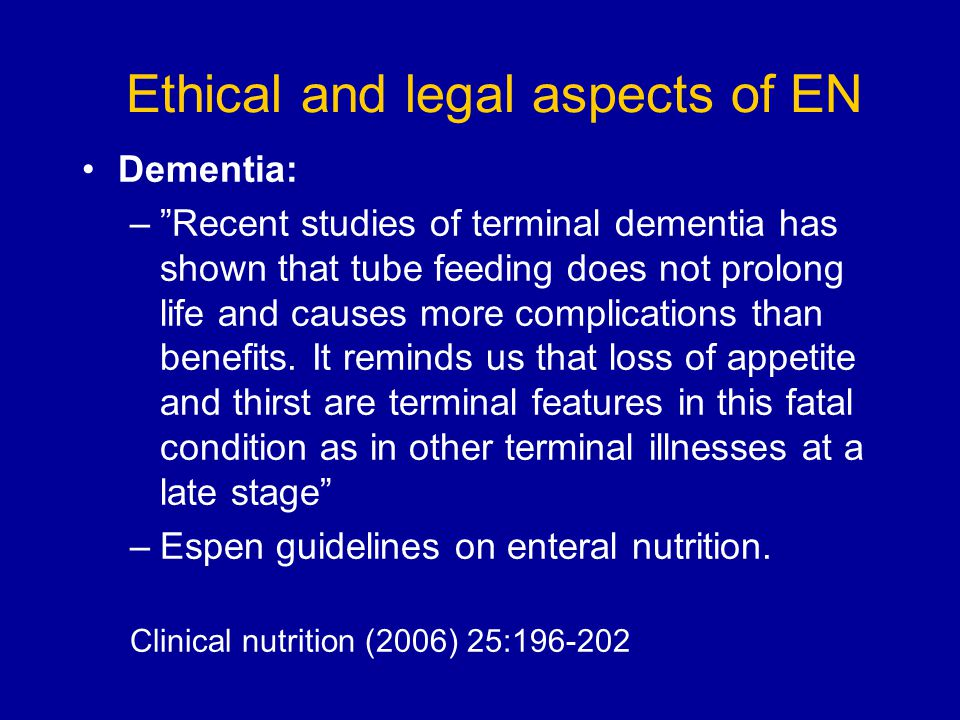 Ethical and legal aspects of EN
