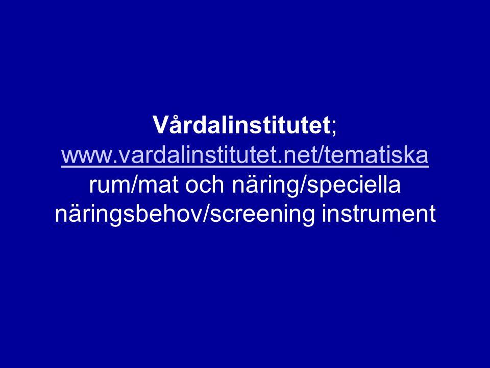 Vårdalinstitutet; www. vardalinstitutet