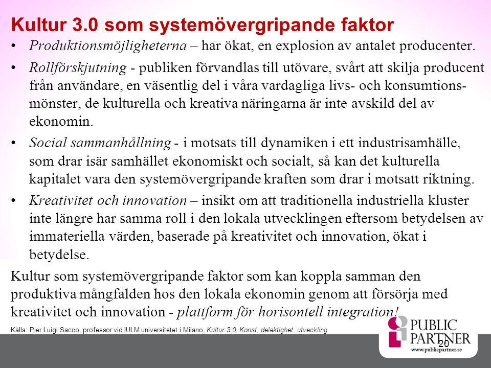 Kultur 3.0 som systemövergripande faktor