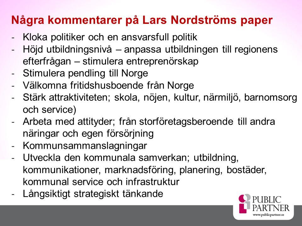 Några kommentarer på Lars Nordströms paper