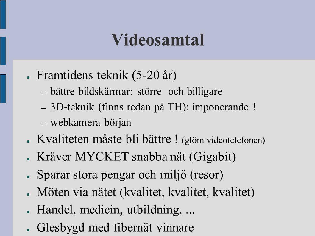 Videosamtal Framtidens teknik (5-20 år)