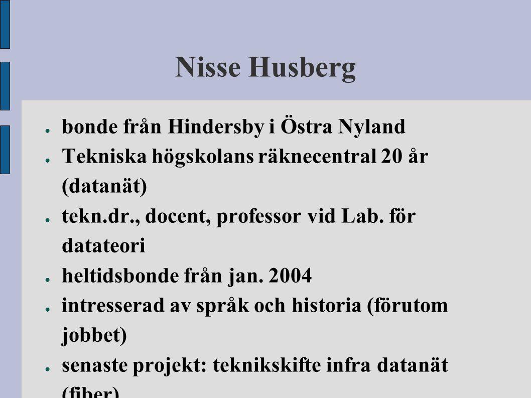 Nisse Husberg bonde från Hindersby i Östra Nyland