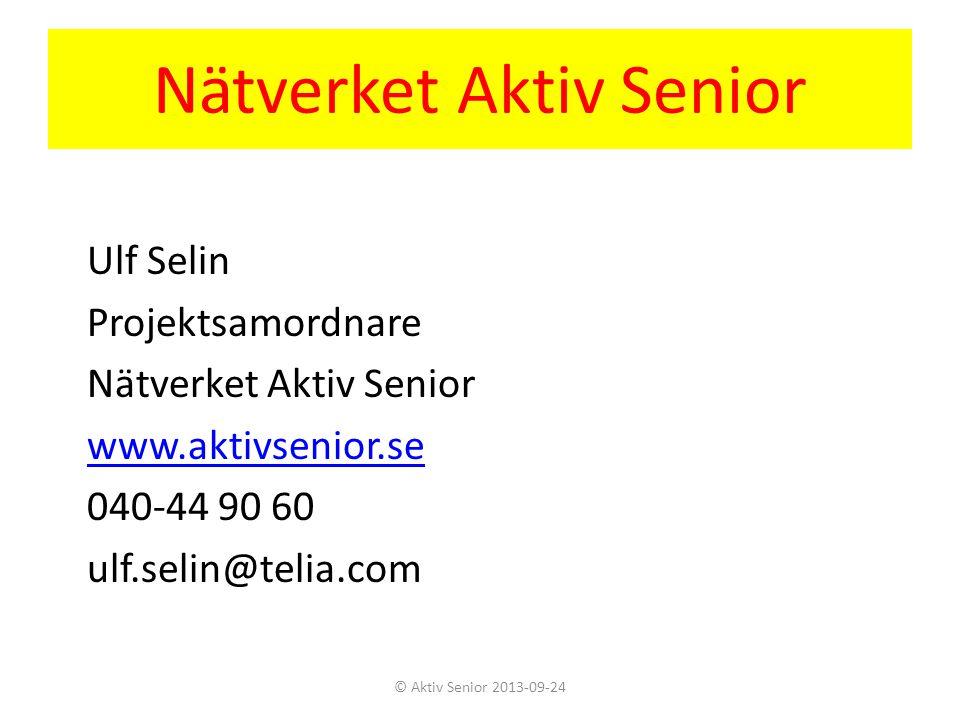 Nätverket Aktiv Senior