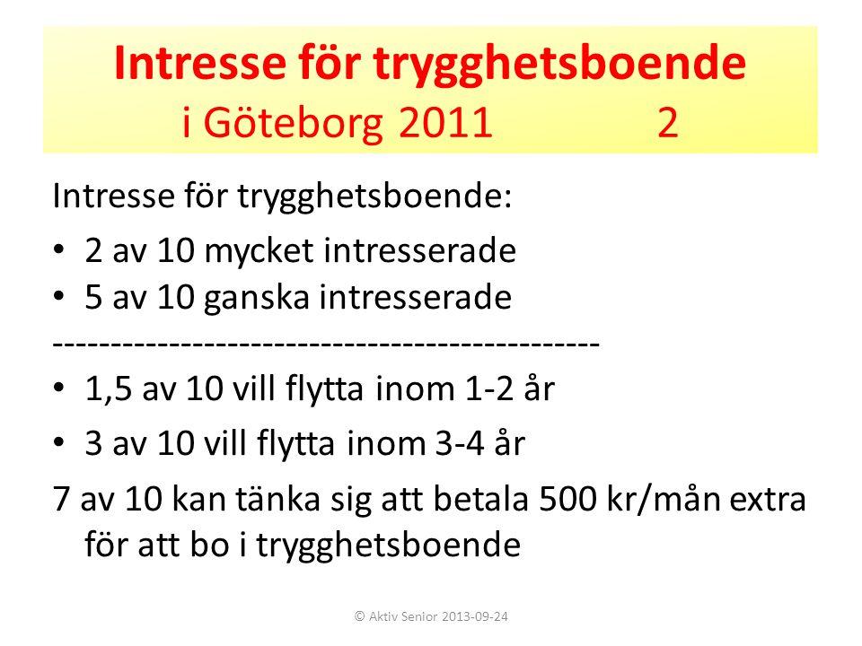 Intresse för trygghetsboende i Göteborg 2011 2