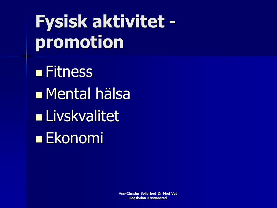 Fysisk aktivitet - promotion