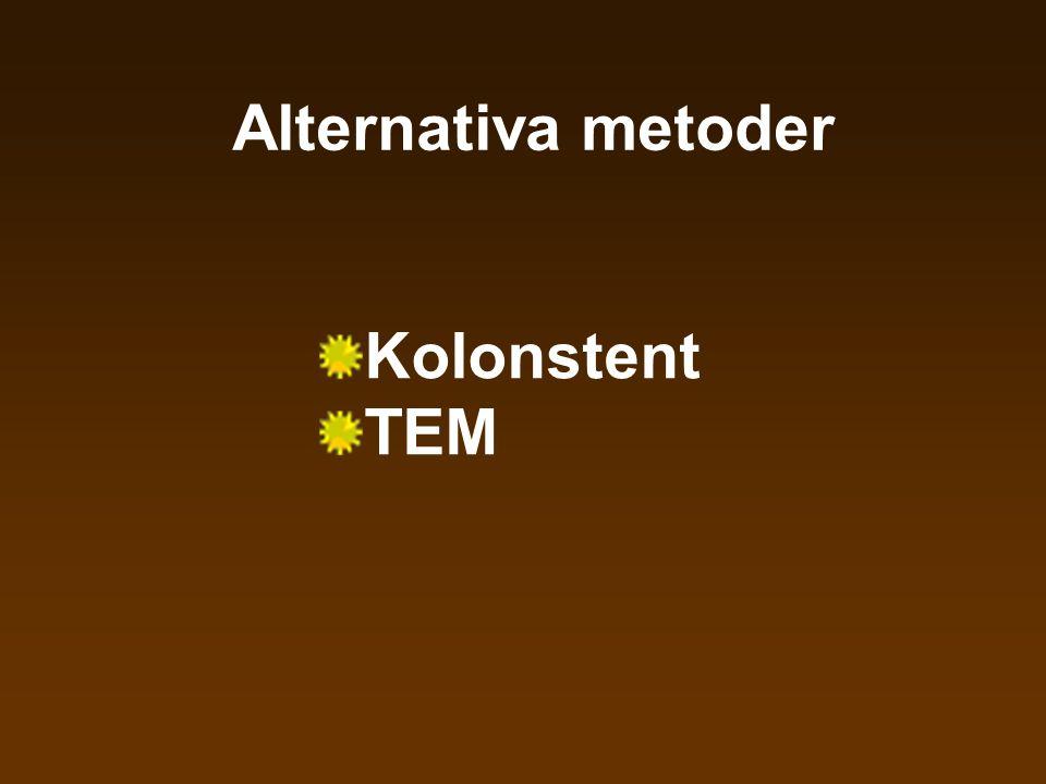 Alternativa metoder Kolonstent TEM