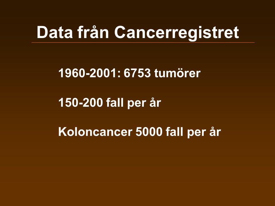 Data från Cancerregistret