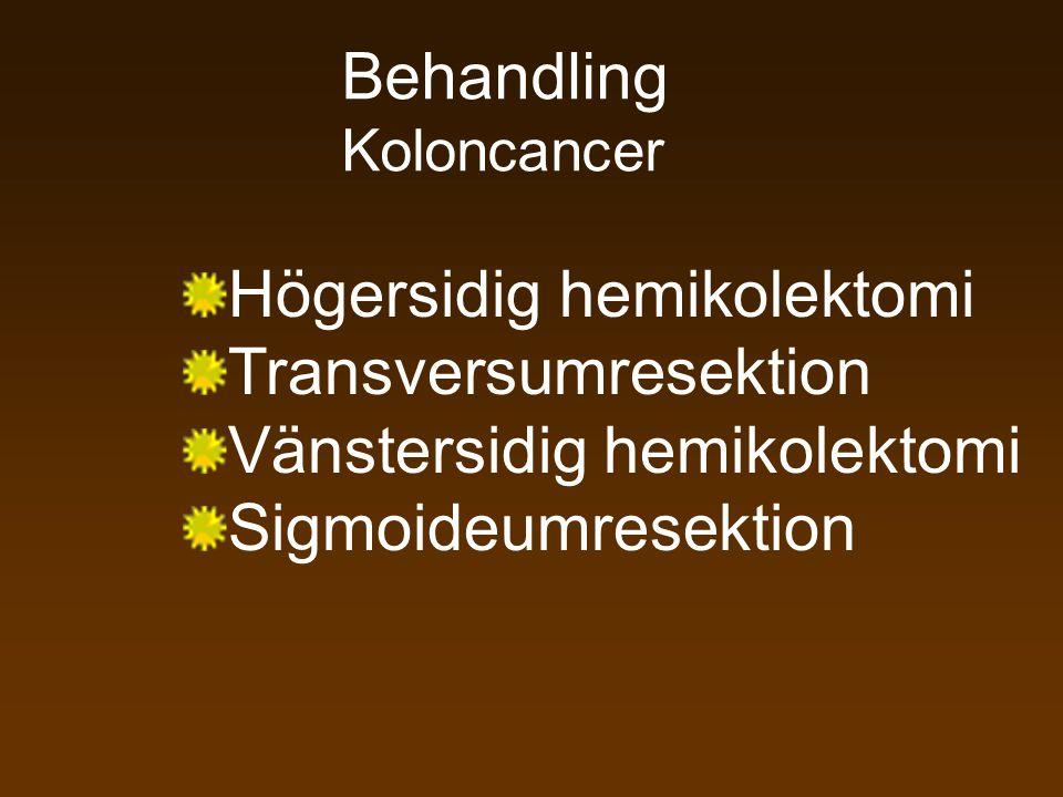 Högersidig hemikolektomi Transversumresektion