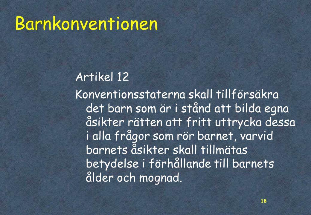Barnkonventionen Artikel 12