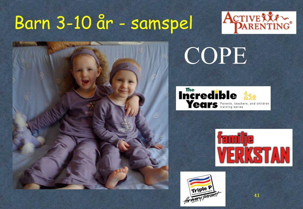 Barn 3-10 år - samspel COPE