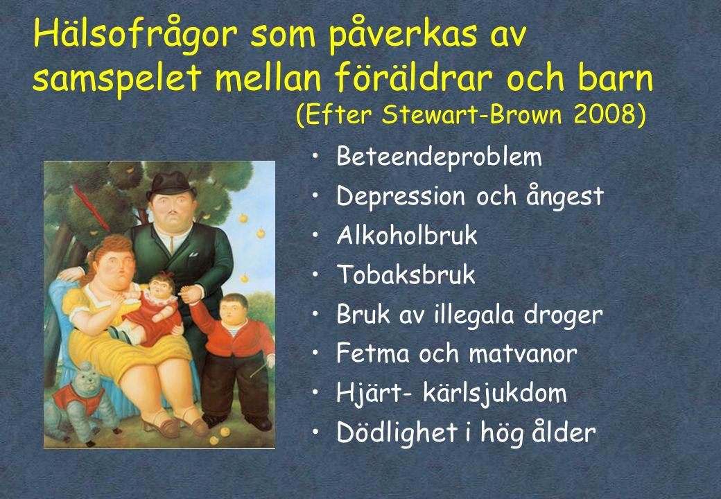 Hälsofrågor som påverkas av samspelet mellan föräldrar och barn
