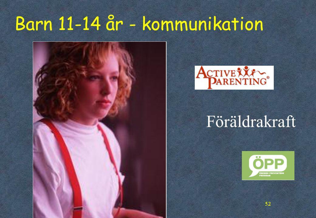Barn 11-14 år - kommunikation