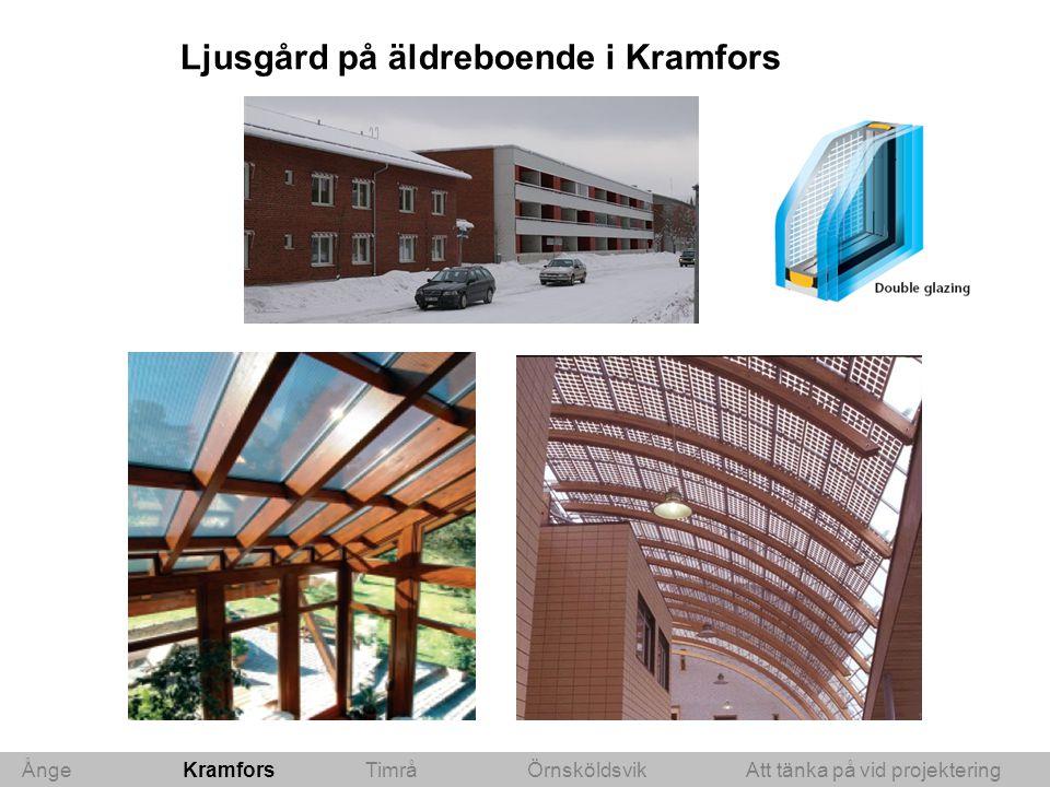 Ljusgård på äldreboende i Kramfors