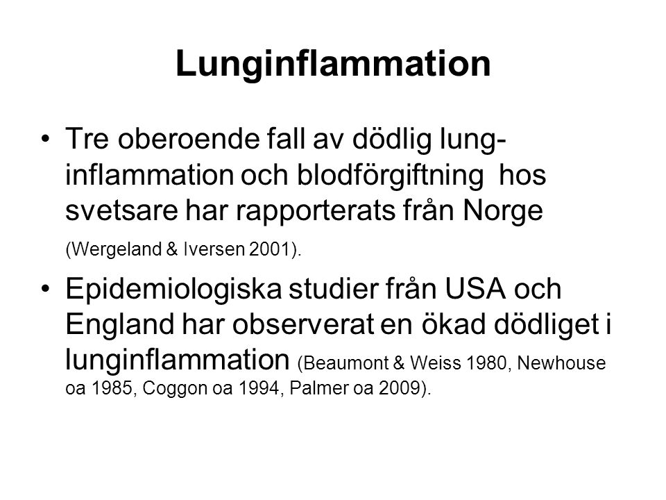 Lunginflammation
