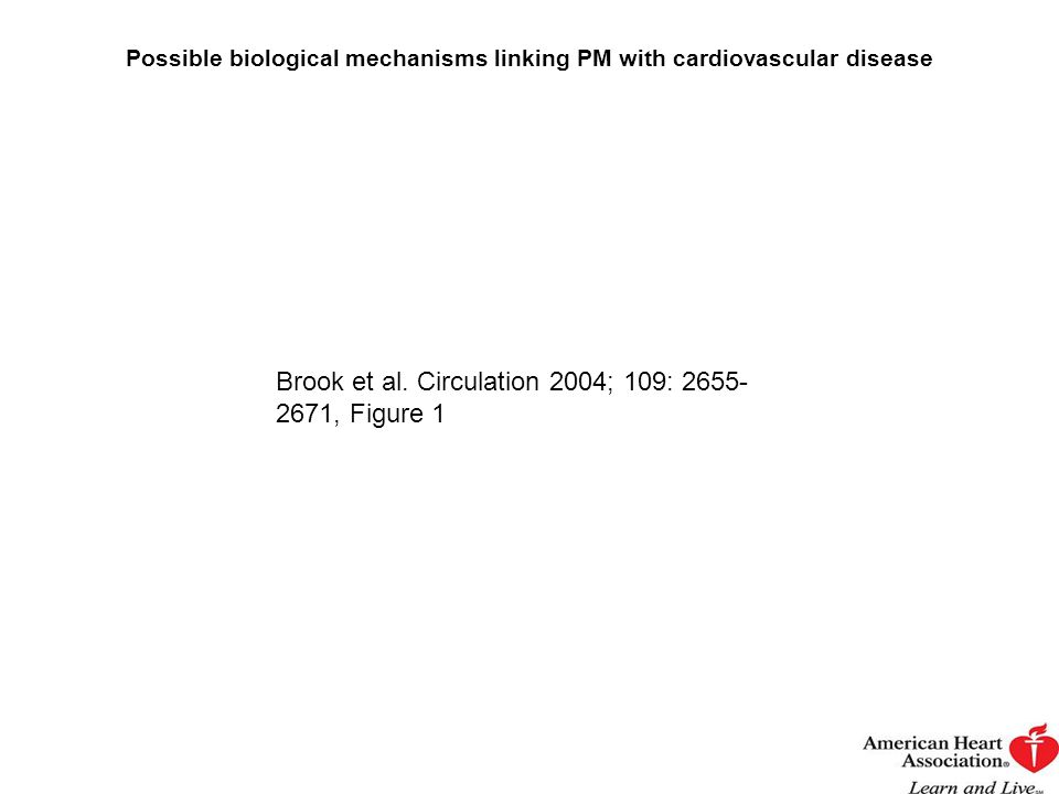 Possible biological mechanisms linking PM with cardiovascular disease