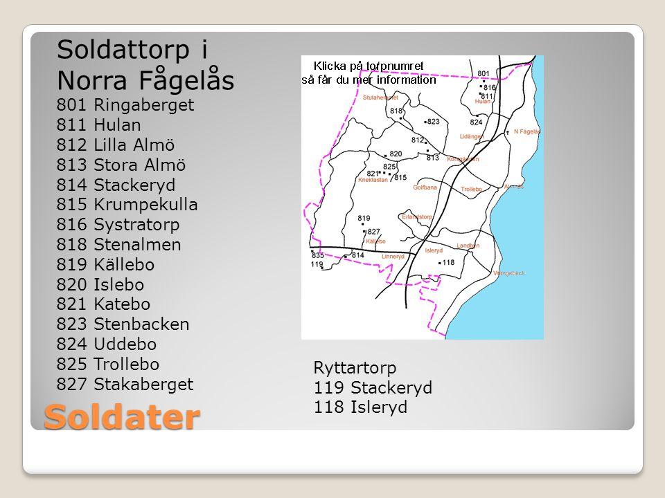Soldater Soldattorp i Norra Fågelås