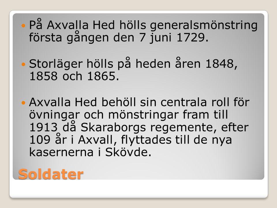 På Axvalla Hed hölls generalsmönstring första gången den 7 juni 1729.
