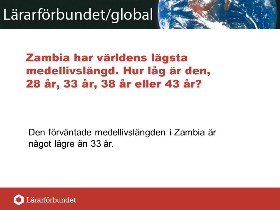 Zambia har världens lägsta medellivslängd