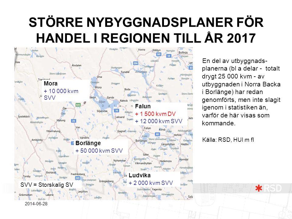 STÖRRE NYBYGGNADSPLANER FÖR HANDEL I REGIONEN TILL ÅR 2017